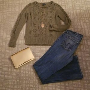 The Gap - Olive Green Cable sweater